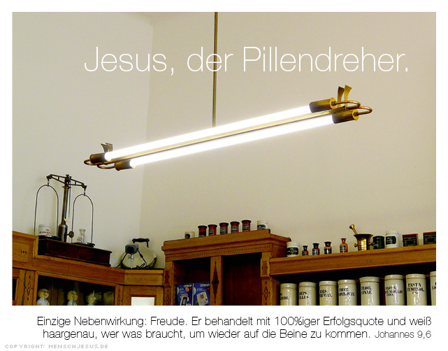 Jesus, der Pillendreher. Johannes 9,6