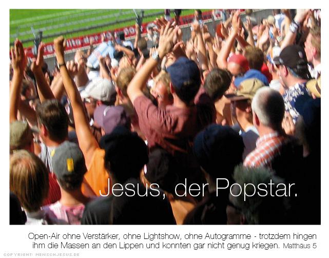 Jesus, der Popstar. Matthäus 5