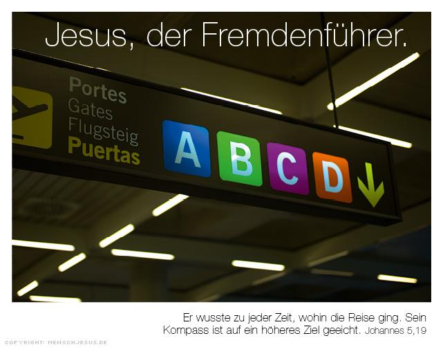 Jesus, der Fremdenführer. Johannes 5,19